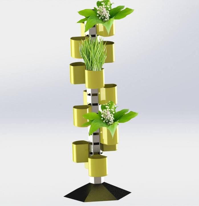 Un modelo de huerta vertical