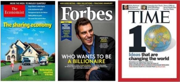 Economía colaborativa en las tapas de The Economist, Forbes y Time