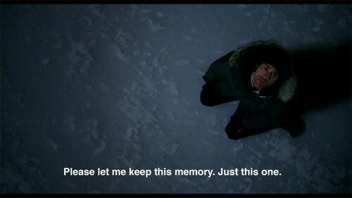 Por favor dejame quedarme con este único recuerdo