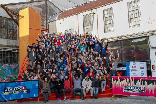 Los participantes de HacksHackers BA Mediaparty 2014. Foto: Ramiro Chanes