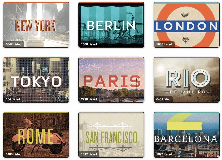 Friso ciudades Airbnb