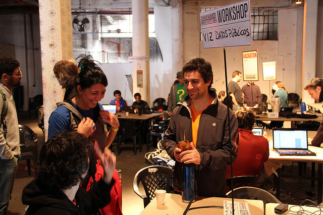 Hackatón HacksHackers 2014. Foto de Ramiro Chanes.