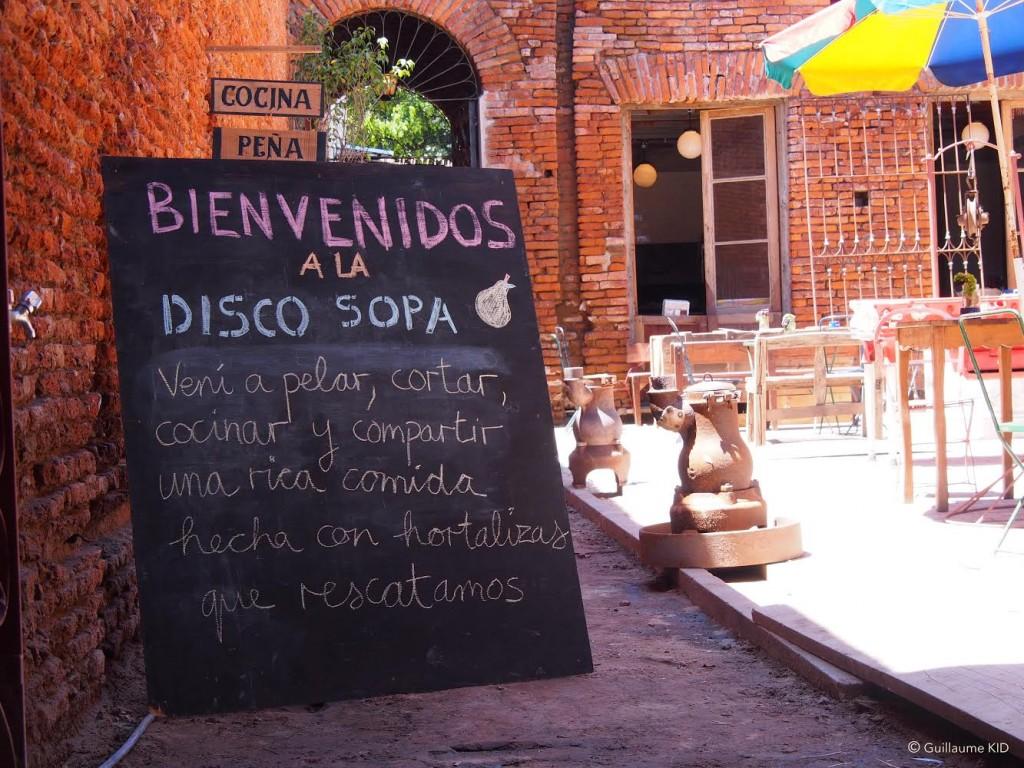 Primera Disco Sopa argentina - cartel de bienvenida