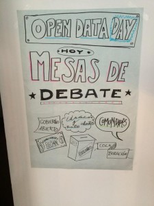 Afiche debate Open Data Day