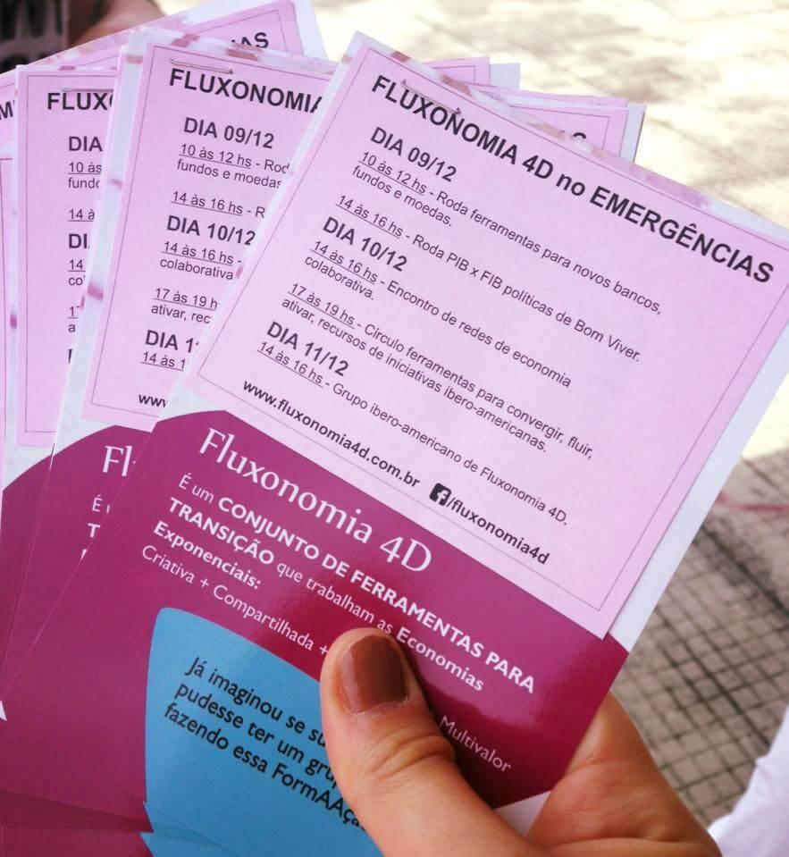 Las actividades propuestas por Lala Deheinzelin y su Fluxonomía 4D en Emergências.