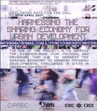 Convocatoria economía colaborativa y ciudades Cippec - BID FOMIN