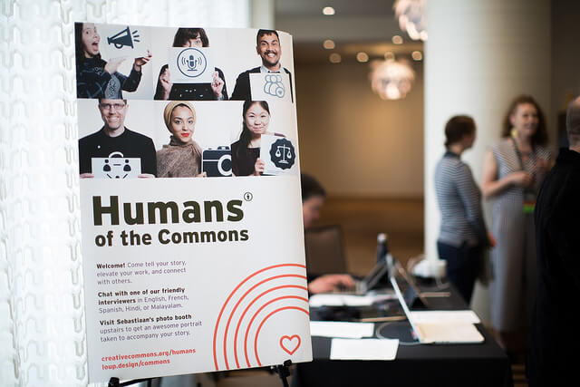 Humans of the Commons - CC Summit 2018 - Foto: Sebastiaan Ter Burg