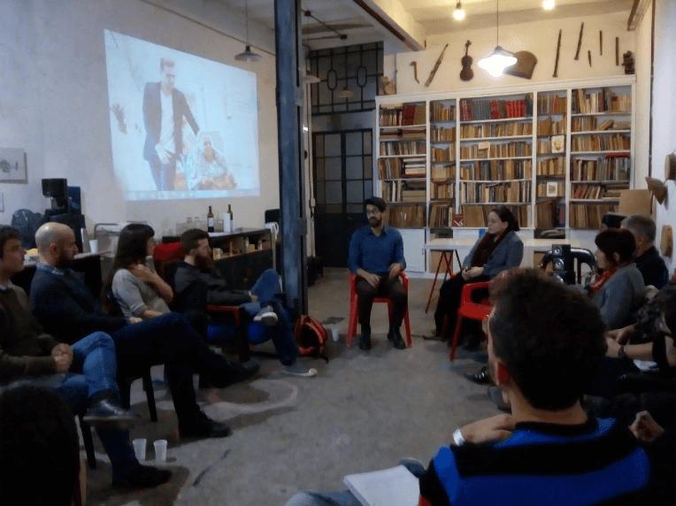 Juan Aranovich en la presentación de Sharing Cities en El Blanco