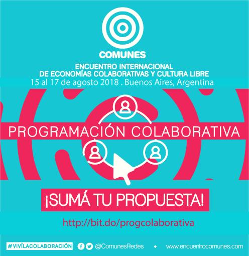 Encuentro Comunes 2018 programacion colaborativa
